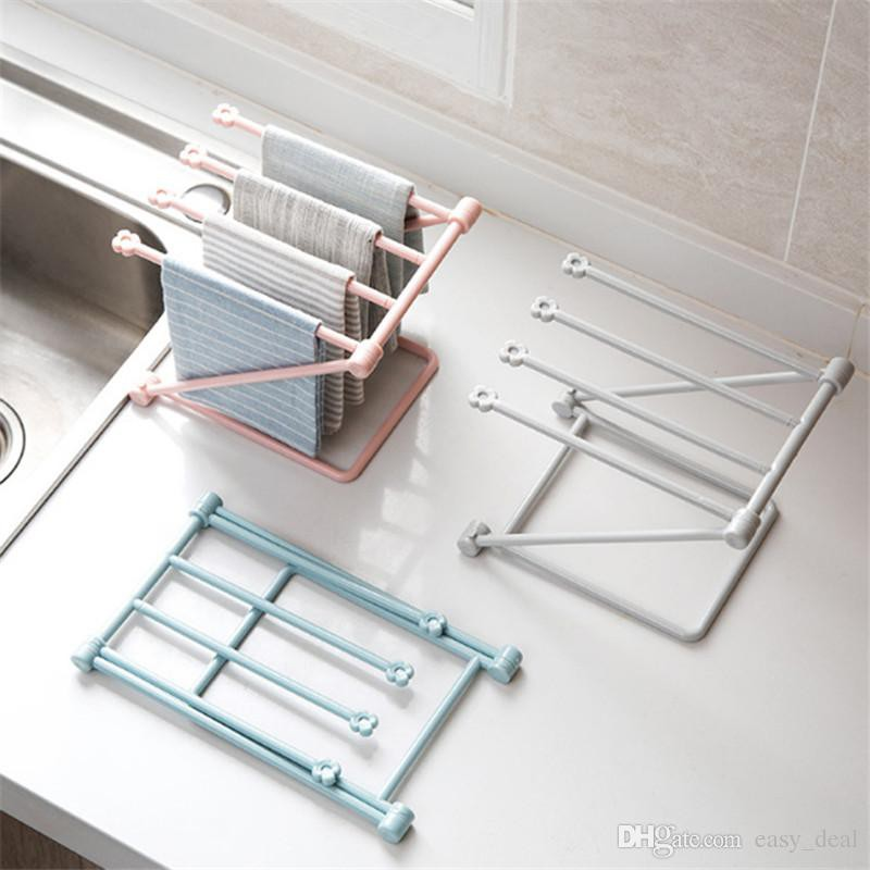 MALAYSIA: RAK PENYIDAI TUALA DAPUR / Foldable Kitchen Dinning Cloth Towel Rack Shelf/ PENGGANTUNG TUALA KECIL