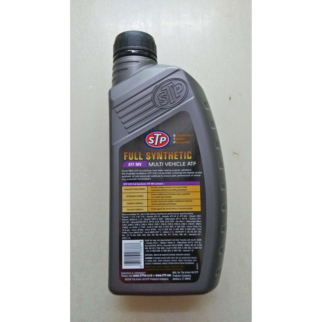 STP Full Synthetic Transmission Oil Multi-Vehicle ATF MV