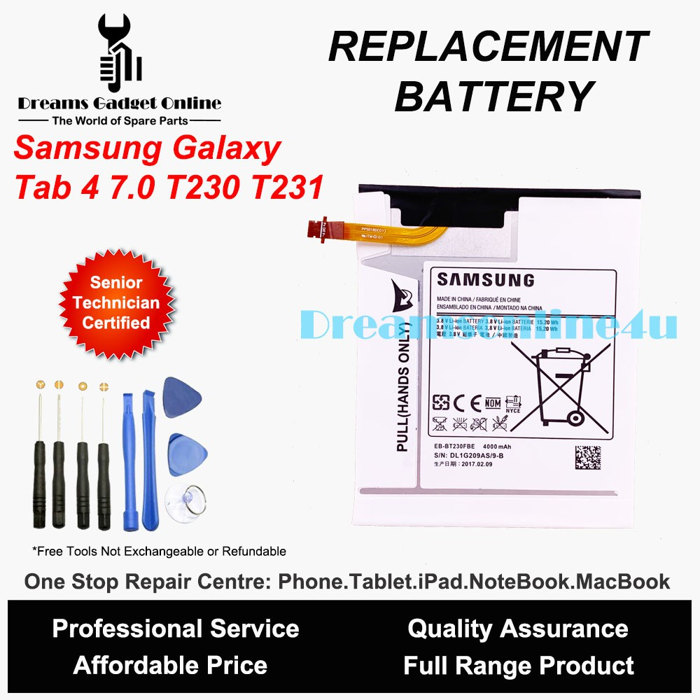 Replacement Battery EB-BT230FBE for Samsung Galaxy Tab 4 7 0 T230 T231 4000  mAh