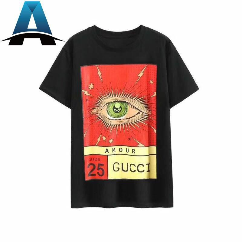 b602c3116 GUCCI printed snake cotton short-sleeved T-shirt | Shopee Malaysia