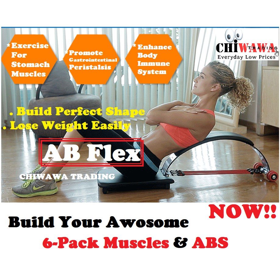 8 IN 1 Six Packs AB FLEX Gym Abs Workout Exercise Abdominal Fitness Trainer