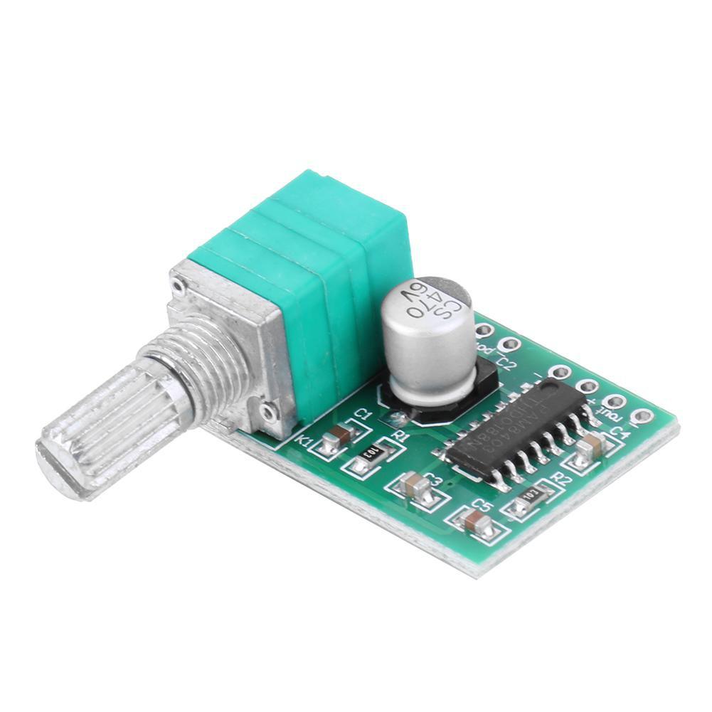 ♈🔥Mini PAM8403 5V Power Audio Amplifier Board 3Wx2 w/Switch Potentiometer  USB