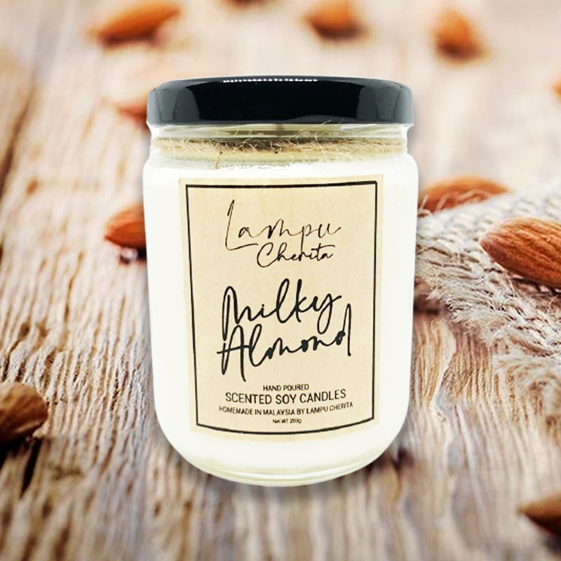 Lampu Cherita - Milky Almond - Scented Soy Candle