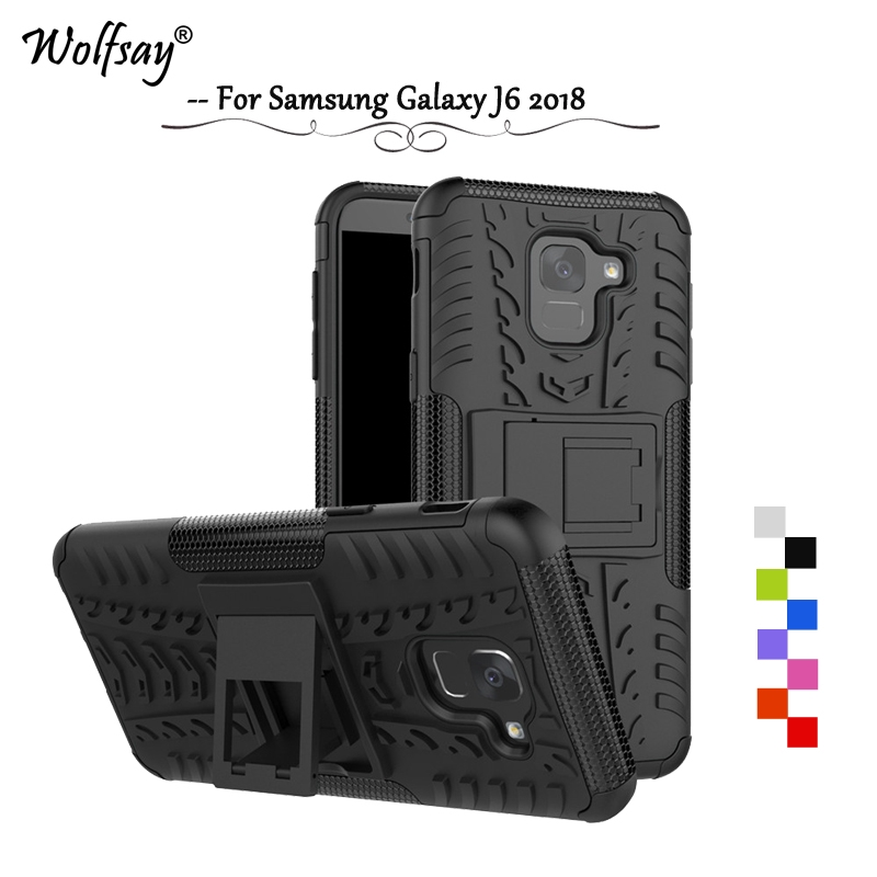 separation shoes ab750 35845 Samsung Galaxy J6 2018 Phone case & Texture rubber armor Cover Casing