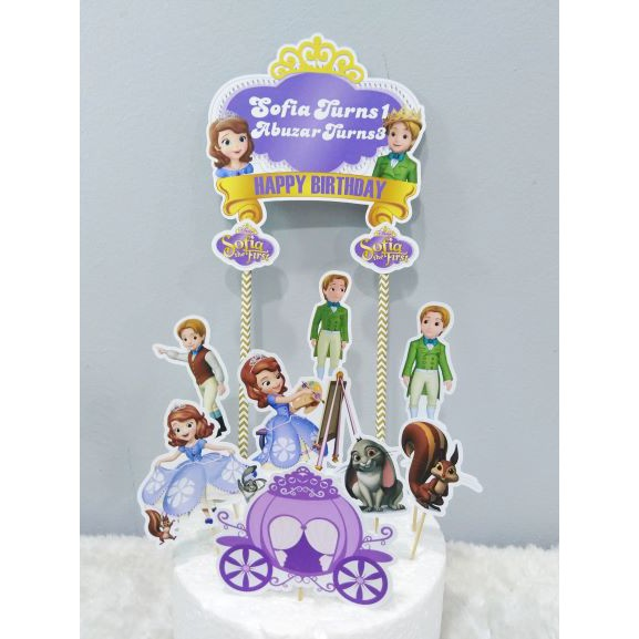 Fantastic Sofia The First Cake Topper Shopee Malaysia Personalised Birthday Cards Cominlily Jamesorg