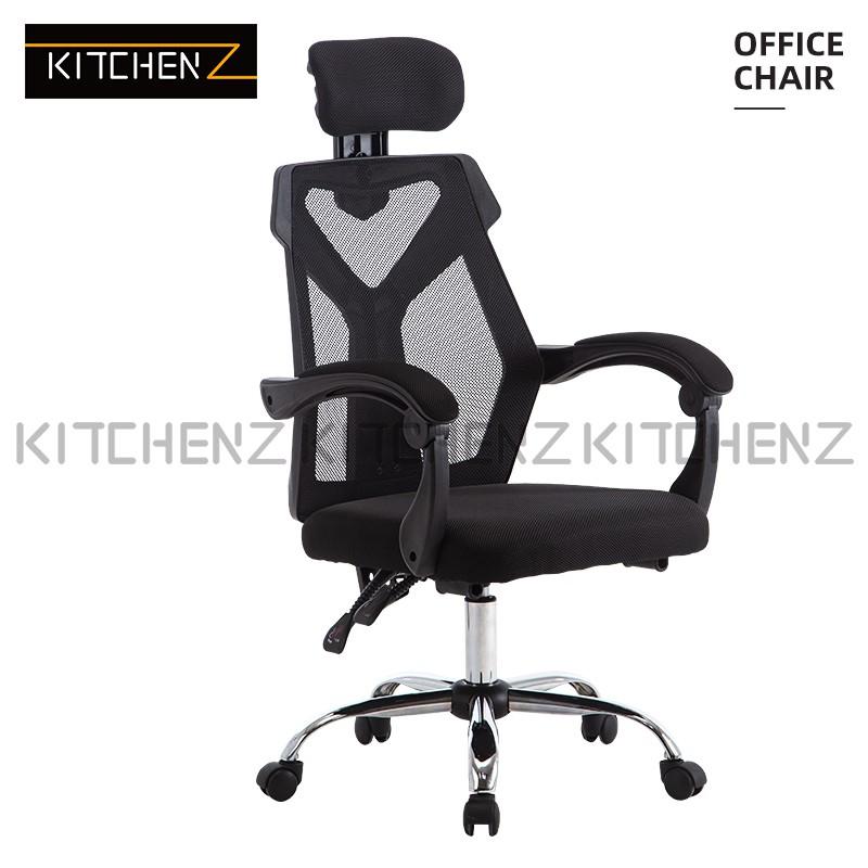 KitchenZ High Back Mesh Office Chair with Ergonomic Design & Chrome Leg / Kerusi Pejabat / Kerusi Roda - GMZ-GC-YG-230