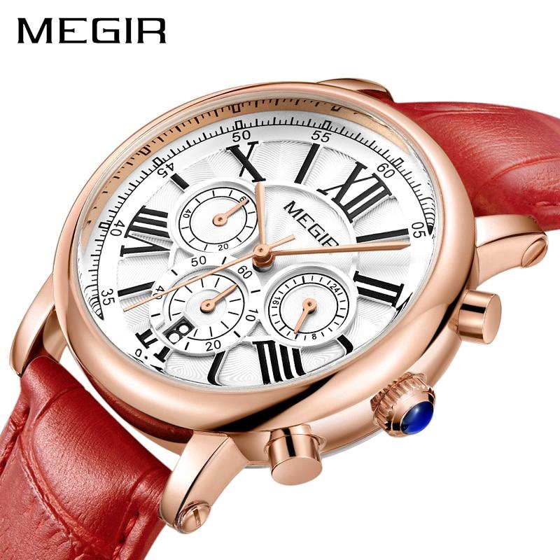 60d4a617fbd MEGIR 4205 Twinkly Luxury Women Fashion Watches Rose Gold tangan ...