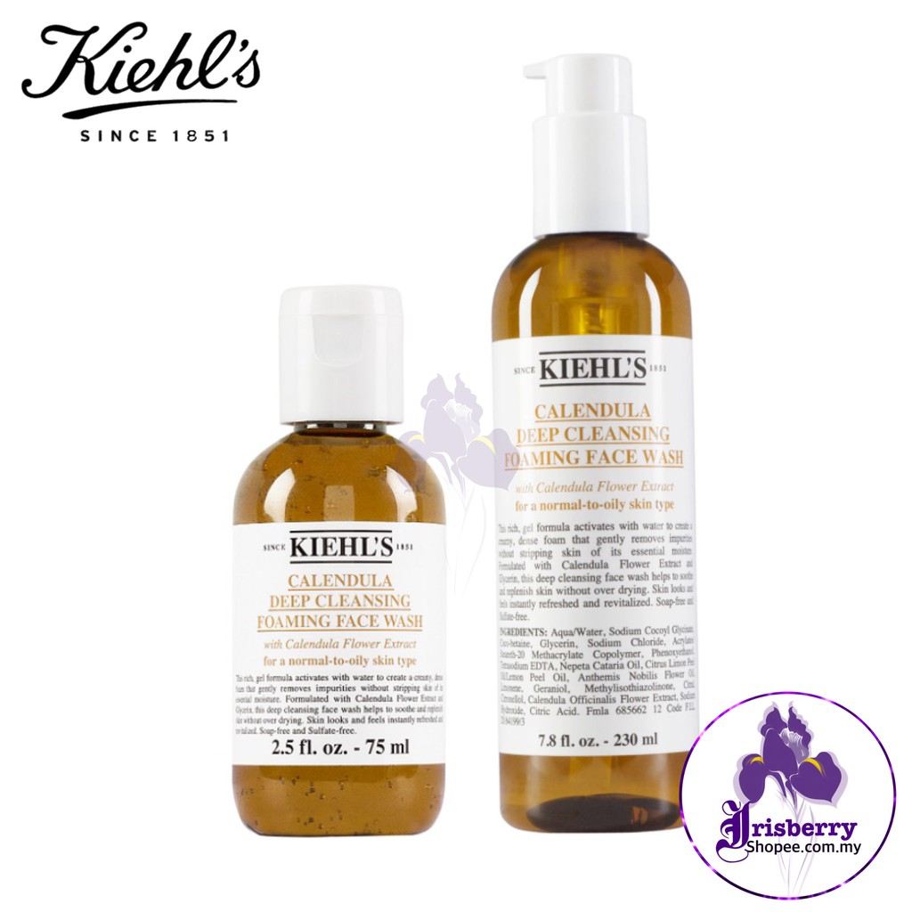 Kiehl's Calendula Deep Cleansing Foaming Face Wash 100% Authentic【Exp :  12/2021】