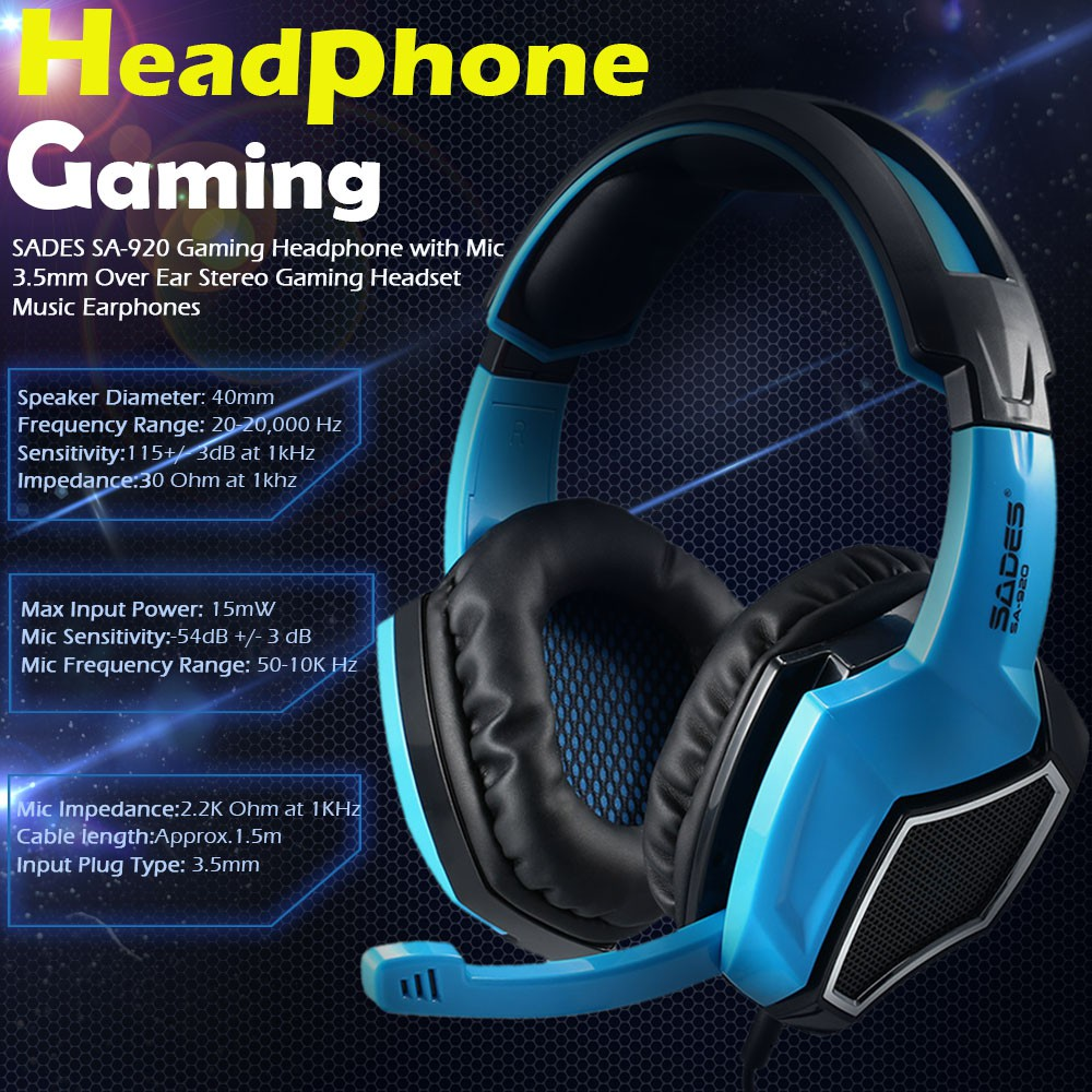 Shopee Malaysia Buy And Sell On Mobile Or Online Best Marketplace Sades Sa 708 Headset Gaming Headphone Stereo Sound Blue For You
