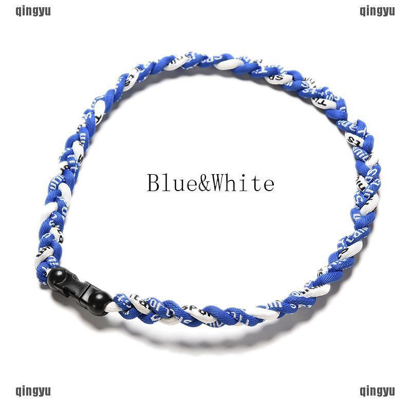 "3 Rope New Flat Clasp Design Titanium Tornado Necklace 20/"""