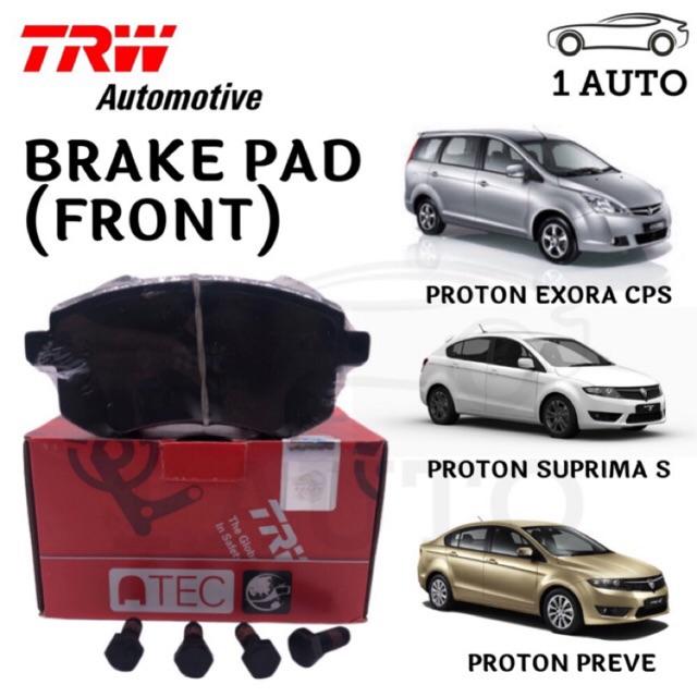 TRW FRONT BRAKE PAD for PROTON EXORA CPS, PREVE, SUPRIMA S (1 SET = 4 PCS)