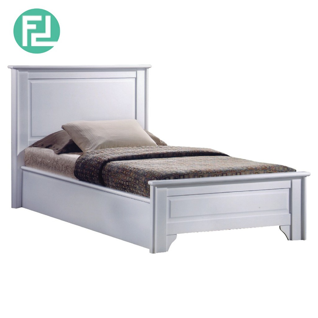 Furniture Direct VIRGINIA SUPER SINGLE SIZE SOLID WOOD BEDFRAME-WHITE