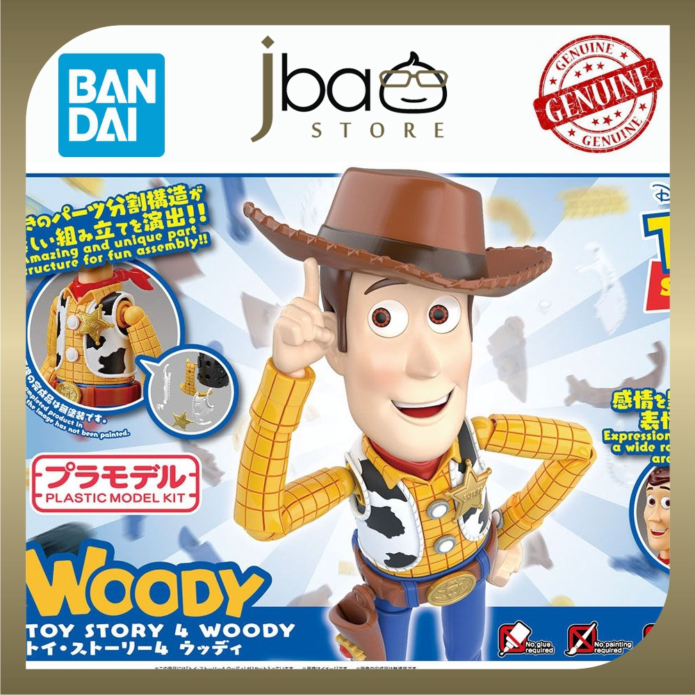 Bandai Toy Story 4 Woody Disney Pixar Plastic Model Kit 3 expression faces