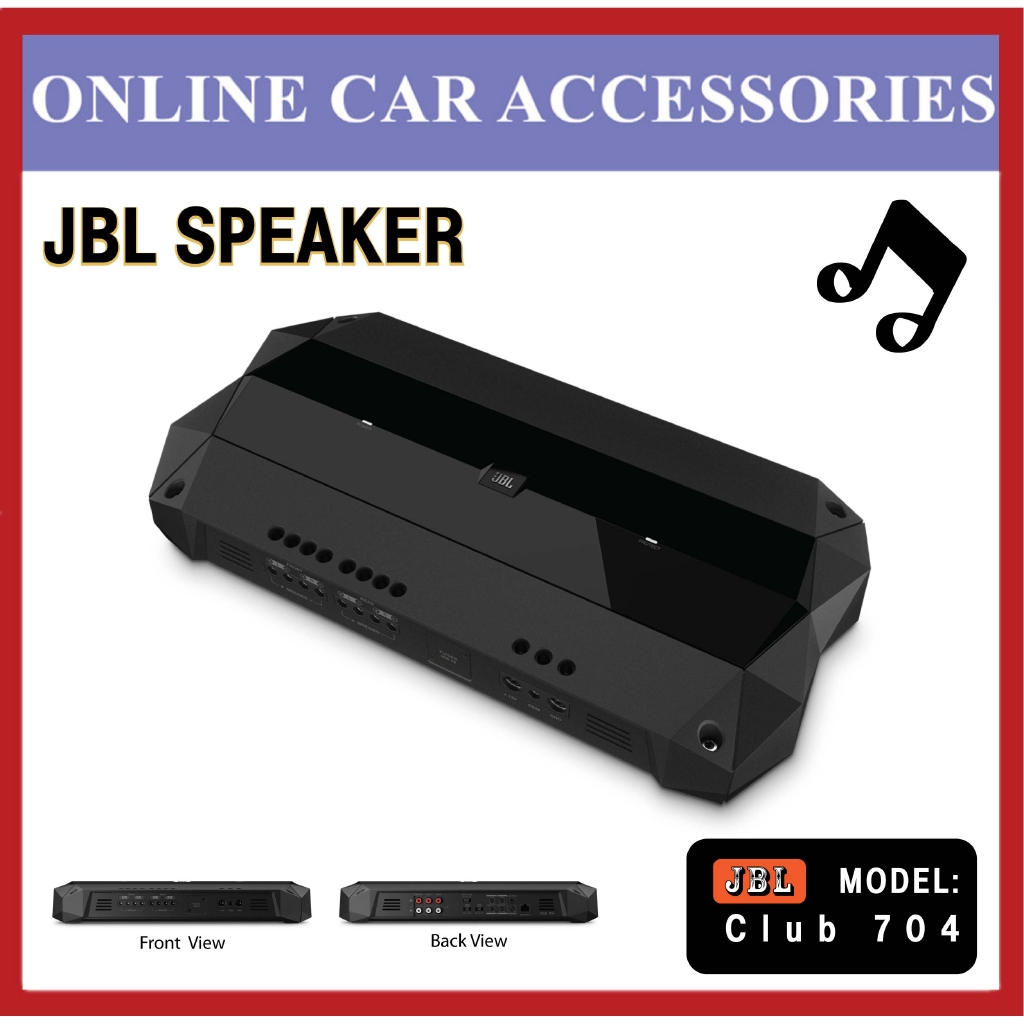 JBL Club 704 Club Series Hight-Perfomance 1000w Peak 4-Channel AMP Car Audio Amplifier