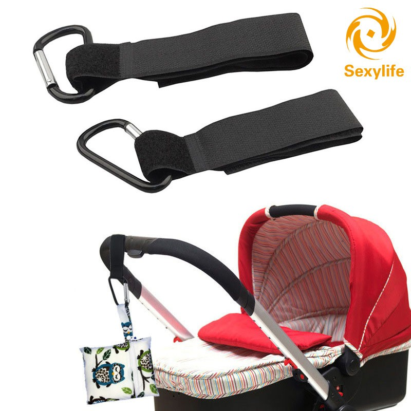 2PCS LARGE BUGGY MUMMY CLIP FITS PRAM//PUSHCHAIR//STROLLER//CLIP SHOPPING HOOK BAG