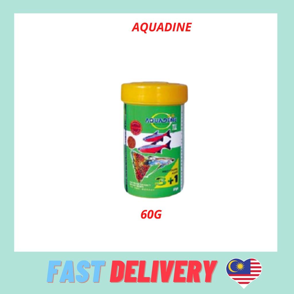 Aquadene Micro Pellet 3 in 1 formula  (Fish Food) 60g 120g