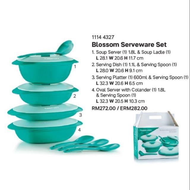 Tupperware blossom serveware set