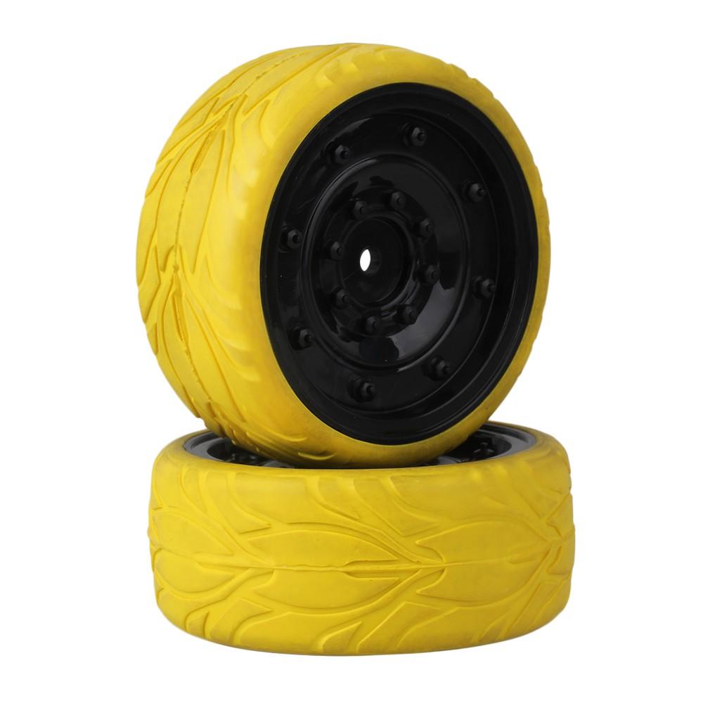 4pcs RC1:10 On-Road Car Fish Scale Rubber Tires/& Plastic Imitate Wheel Black