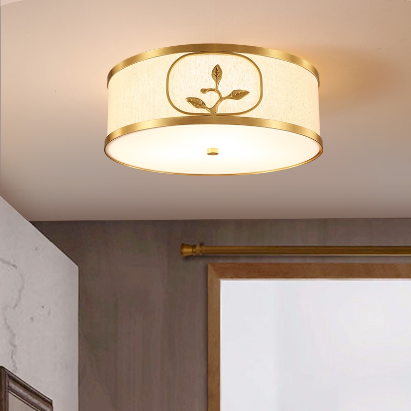 Lights New Chinese Style Copper Ceiling Light Simple Modern Study Lamp Shopee Malaysia