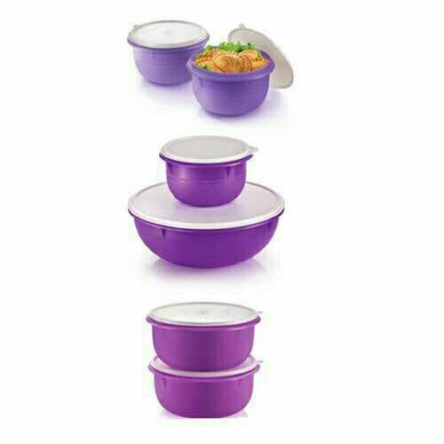 Tupperware Fix n Mix Bowl 1.9L, 4.3L Purple ,Set Level