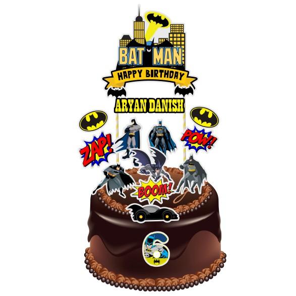 Awe Inspiring Batman Theme Birthday Cake Topper Shopee Malaysia Personalised Birthday Cards Paralily Jamesorg