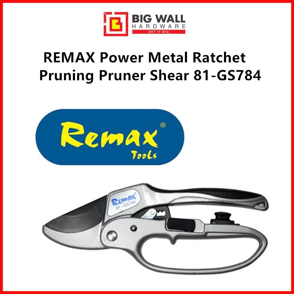 REMAX Power Metal Ratchet Pruning Pruner Shear 81-GS784 / Gunting Pokok dan Ranting (Big Wall Hardware)