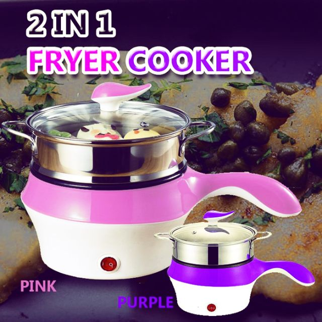 2 DI 1 COOKER FRYER (PINK & PURPLE)
