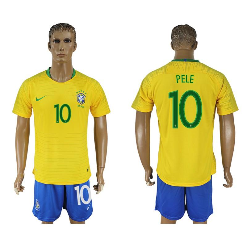 fadcb25d7 2018world cup Brazil soccer Jersey Home yellow shirt+pants  9 G.JESUS  9  RONALDO