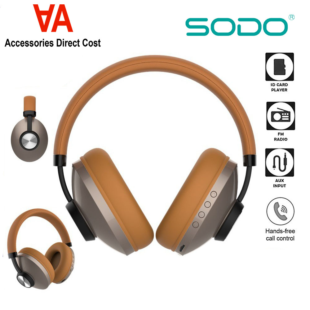 SODO SD-1007 Dual Mode (Wired & Wireless) Bluetooth 5 with AUX, TF Card, FM Headphone