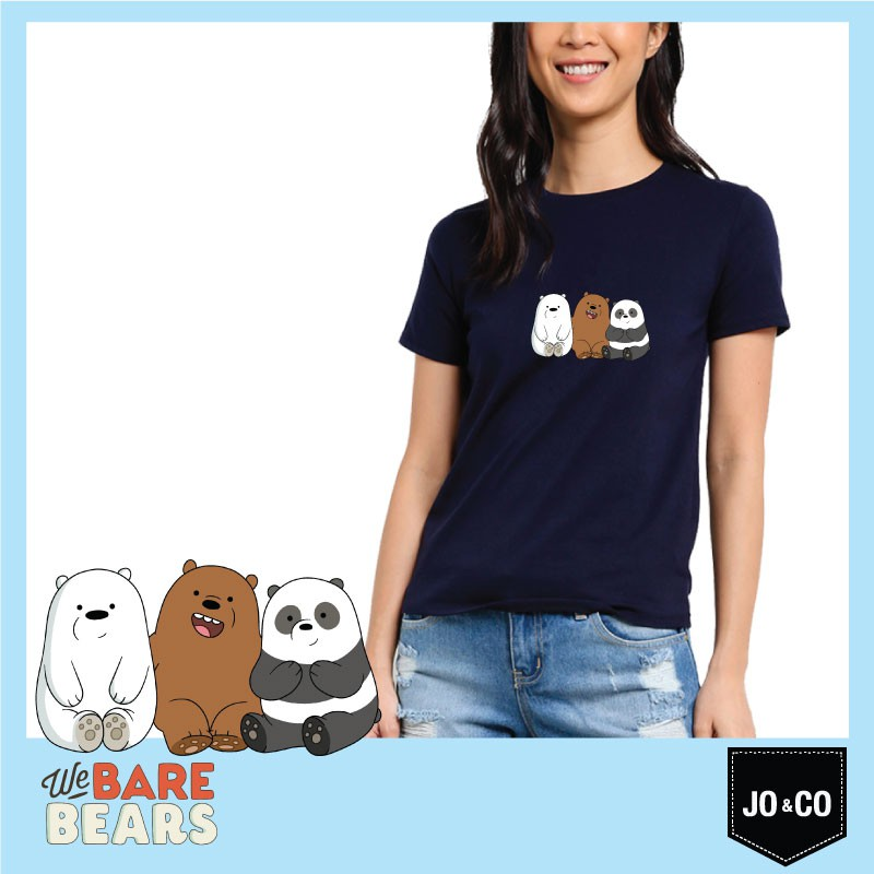 ea4973931 Cn We Bare Bears Ice Bear Will Protect You T-Shirt Cotton Women Tshirt Navy  Blue | Shopee Malaysia