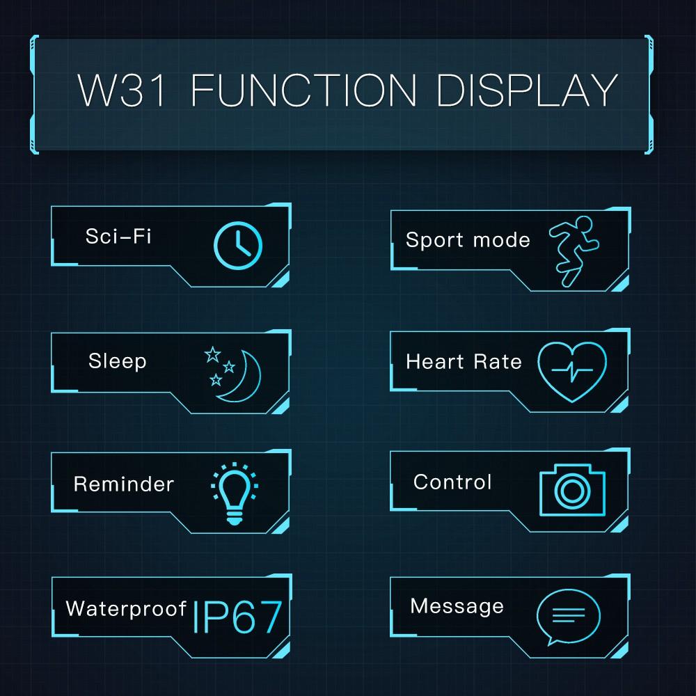 [LOCAL SELLER] BOZLUN W31 New Smart Watch Dynamic Heart Rate Reminder Waterproof Wristwatch