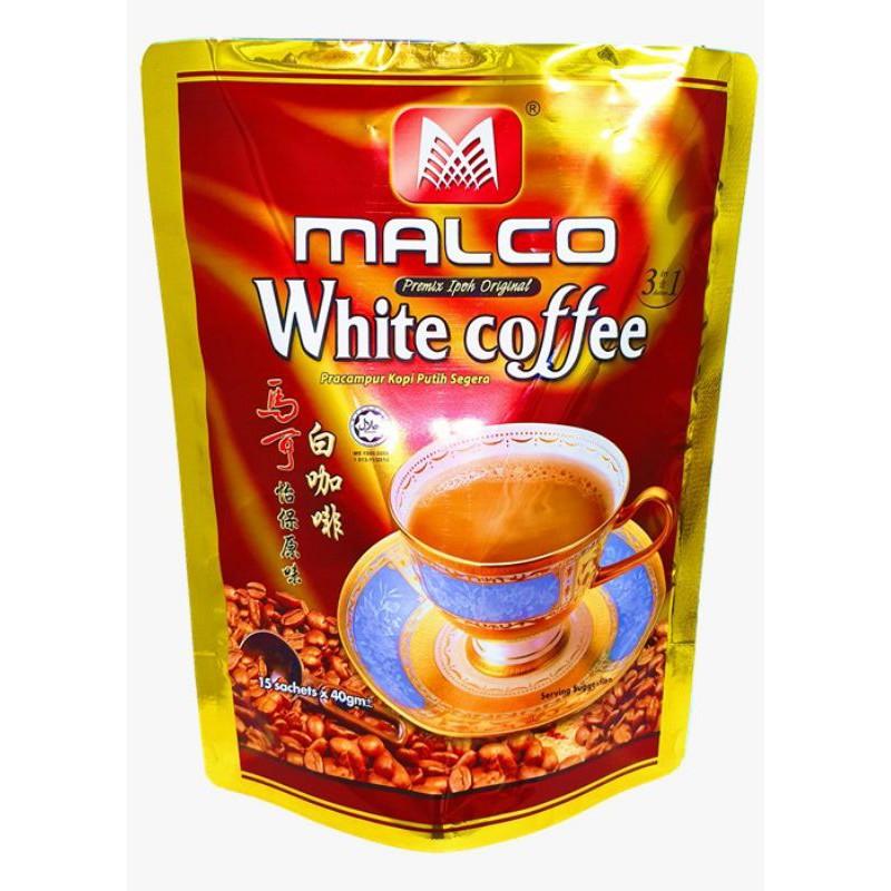 "MALCO - PREMIUM WHITE COFFEE ""3 in 1"" INSTANT MIX (40G x 20) - HALAL"