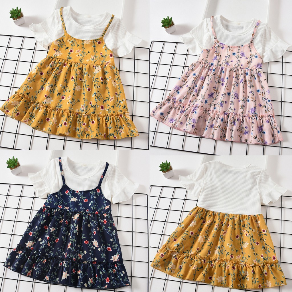 Cute Toddler Baby Kids Girl Ruched Tulle Long Sleeve Love Print Dresses Clothes