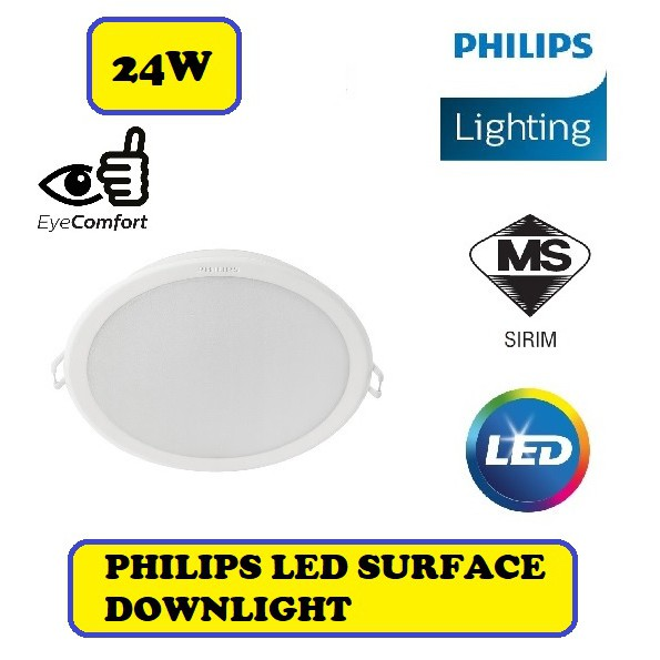 Latest Model 9 Philips 24w Led Surface Down Light Downlight 59474 Daylight Shopee Malaysia