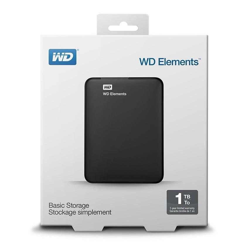 Western Digital WD Elements 2TB HDD USB 3.0 Portable External Hard Drive Black