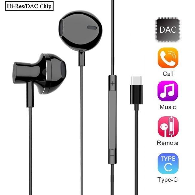 DAC HIFI 3D Music Audio USB-C USB 3 1 Earphone For Type C XiaoMi Samsung  Razer Huawei HTC Google Pixel iPad LG Motorola