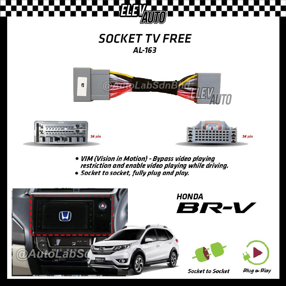 Honda BR-V BRV Socket TV Free (Bypass VIM) AL-163