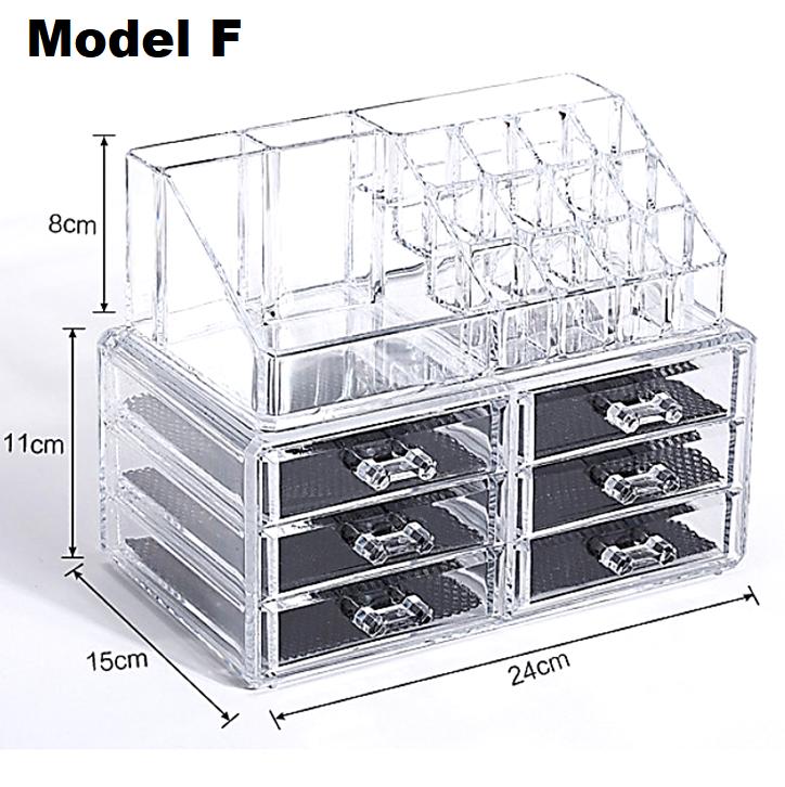 3 Layers Cosmetic & Jewellery Lipstick Organizer Makeup Storage Box Display Rack 1