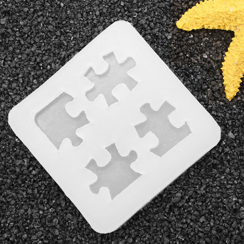 Jigsaw Puzzle Mould Silicone Resin Mold DIY Tool Home Mixed DIY Craft Decor