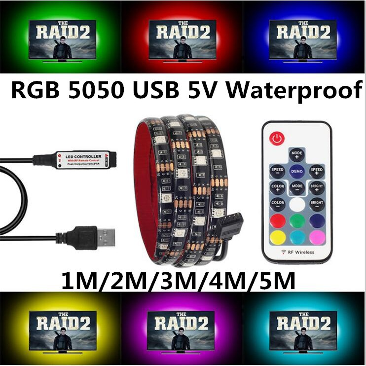 WS2812B RGB 5050 SMD Strip 5V  Addressable RF Controller Under Counter Lights