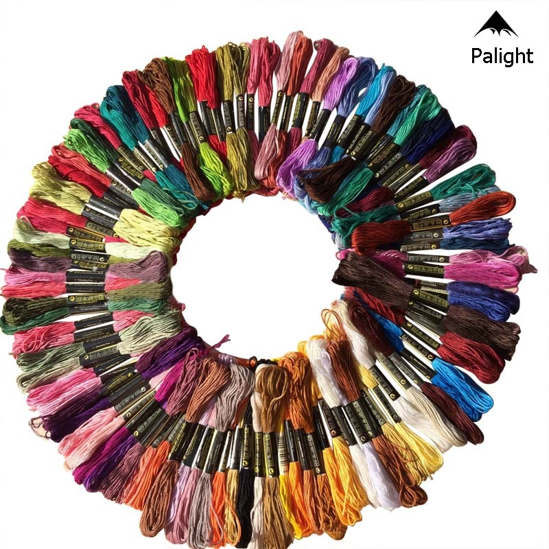 100 MultiColor Cross Stitch Cotton Sewing Skeins Embroidery Thread Floss Kit