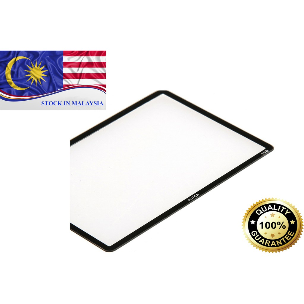 Fotga 0.5mm Premium LCD Screen Panel Protector Glass For Canon 70D (Ready Stock In Malaysia)