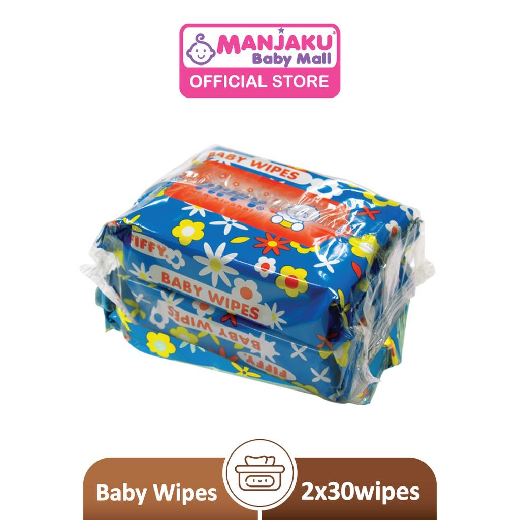 Fiffy Baby Wipes - Blue (2 x 30's) 98-876