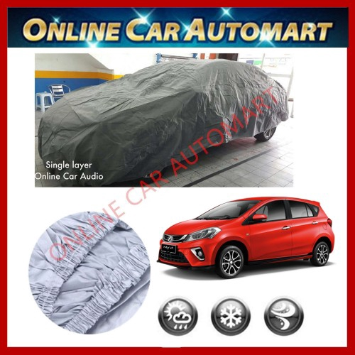 New Perodua Myvi 2018/2019 -High Quality Universal Fit Single Layer Car Cover