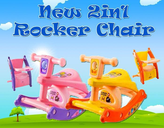 MALAYSIA: 3-12 TAHUN KERUSI NEW 2in1 ROCKER CHAIR
