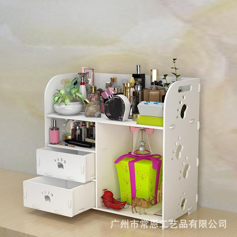 1509d70d321f desktop skin care cosmetic storage box drawer toiletry dresser