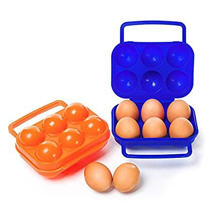 4 / 6 Grid Portable Egg Carton Case Box Kitchen Convenient Container Egg Storage Box Container Outdoor Storage