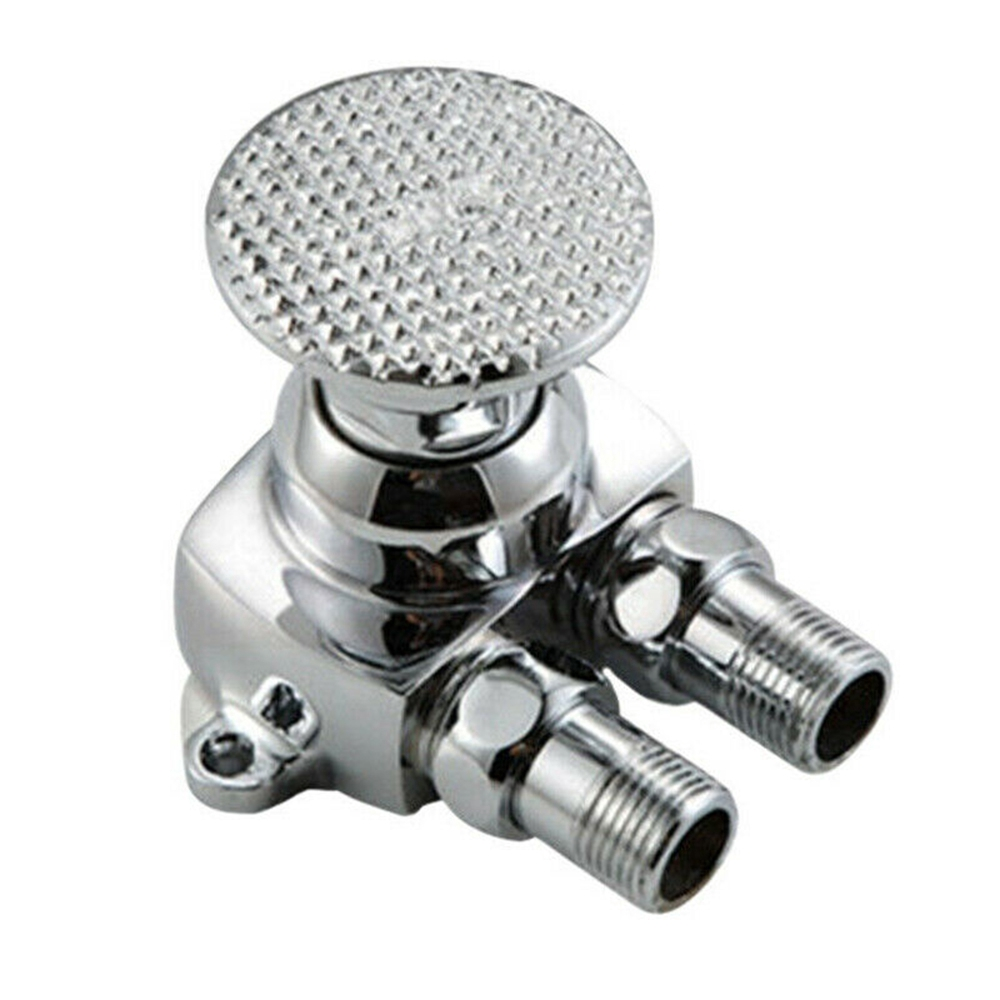 Single Hole Foot Pedal Valve Faucet Vertical Basin Switch Hospital Sink Tap Home
