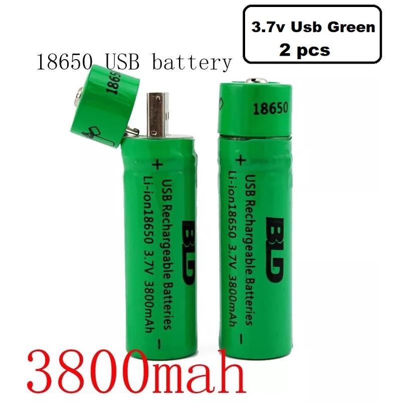 [ READY STOCK ]  3.7v 18650 Charger Li-ion Rechargeable Battery Usb Bateri Jualan Murah Led Flash Light Lampu Pelita Raya