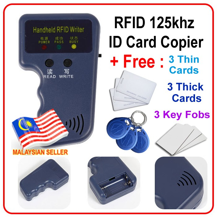 Access card copier duplicator ID 125khz RFID cloning handheld device + free  copy cards and key chain to duplicate